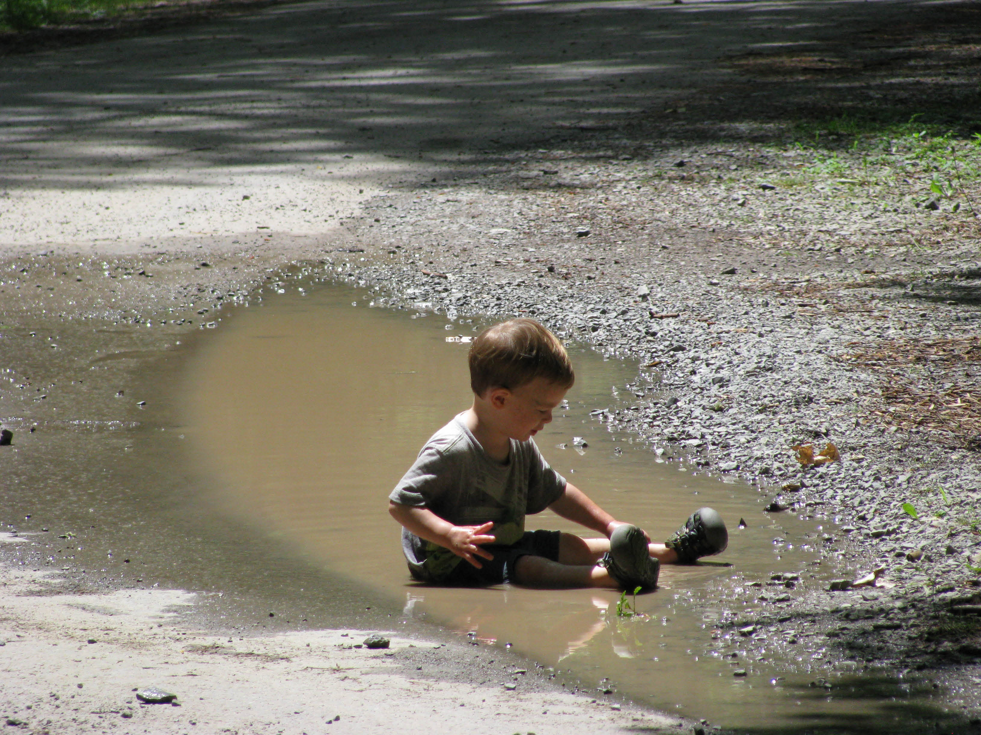 Brandon and a Puddle