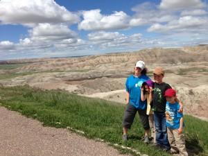 The kids in the Badlands National Park