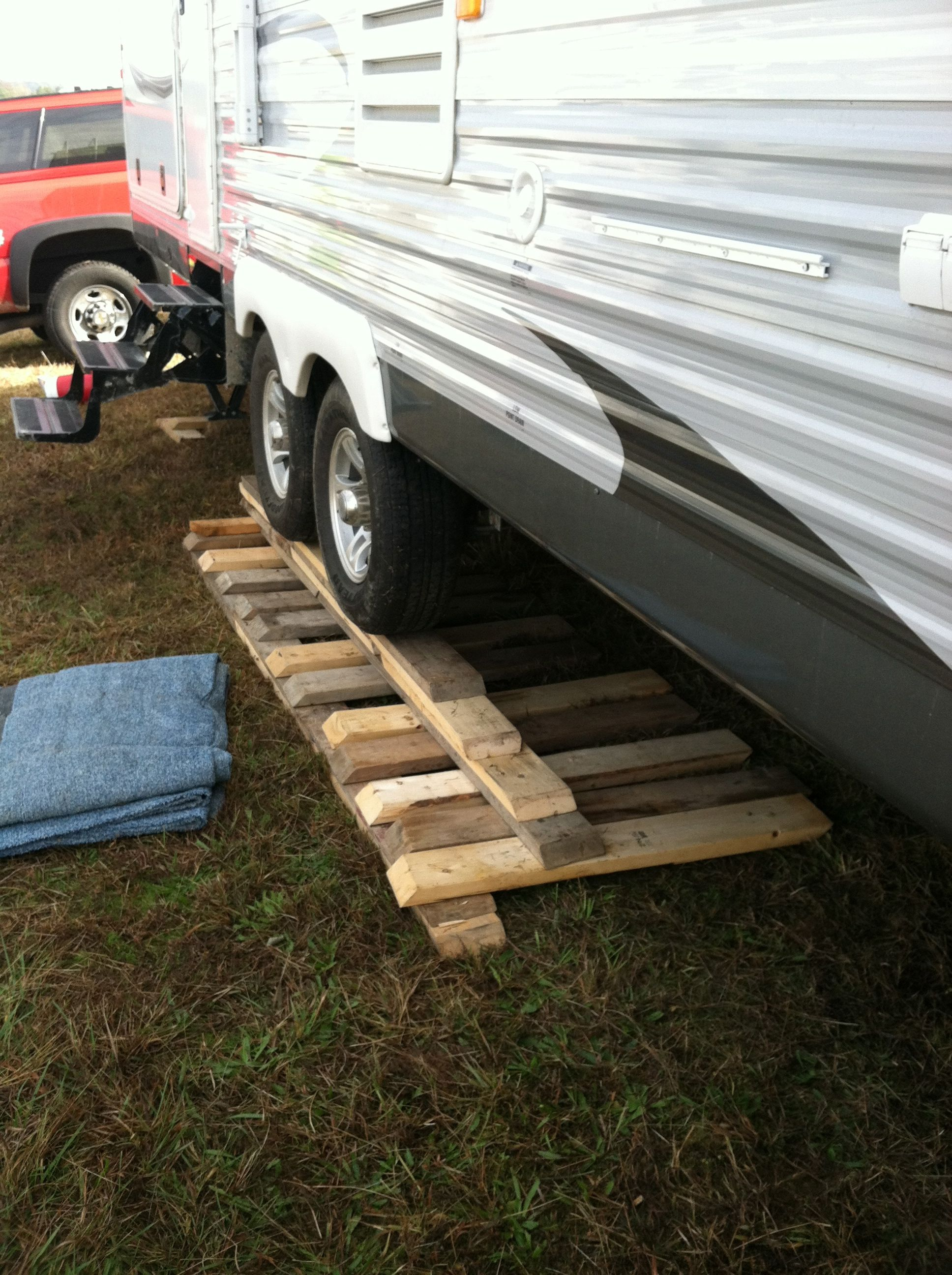 Camping on the hillside at Martinsville