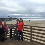 Our family at the beach at Pismo Beach on the day of our arrival