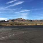 The view from a truck stop in Arizona
