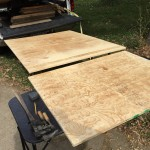 Shows the two pieces of plywood that make up the storage tray
