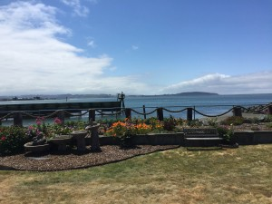 Looking out over the bay from the restaurant in Eureka California